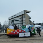 End of the Parade route at Mosaic Stadium / Fin de la Parade au Stade Mosaic